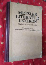 METZLER LITERATUR LEXIKON梅茨勒文学词典【德文版16开精装】