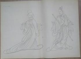 建国初期出版的西汉刘向《列女传》(400mm×520mm*2)二张