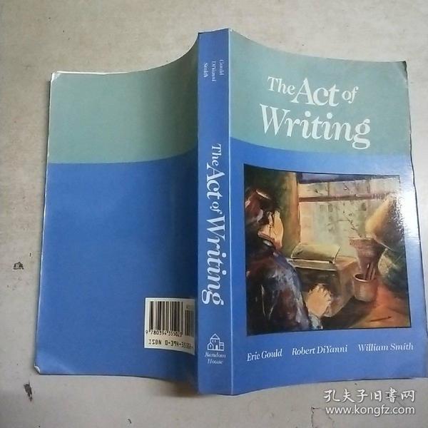(英文原版)the act of writing(32开)馆藏