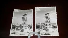 1980年代初郑州二七塔周边照片两张合让