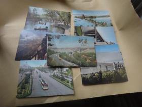 65年武汉明信片  全套8枚 存7枚