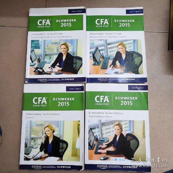 CFA  LeVell BOOK1 2 3 5四册合售