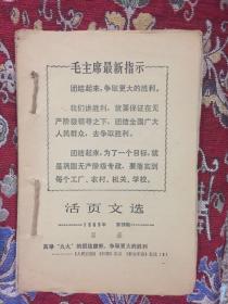 """活页文选(1969年1.2.3.5.6.7.8.9.10.12.13.14.15.17.18.19期;九大""""文献:1.2.3.4.5号""""合订;如图; 合售)"""