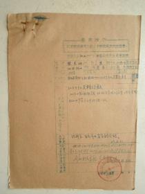 革委会成员任免呈报表及材料12张