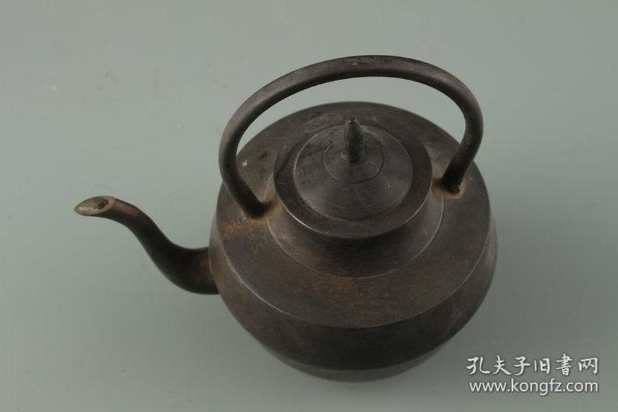 清中期铜器提梁壶 古玩古董老物件摆件老旧货收藏