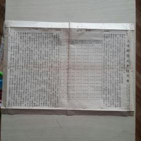 上海邮务工会通代电  民国卅八年四月十一日