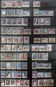 『西班牙邮票』1970-1979年 邮票日系列 绘画 10组全新 共计80枚