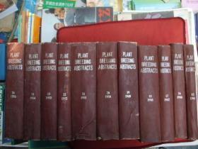 PLANTBREEDIN6ABSTRACTS植物育种文摘[1945年15期一1954年24期十1956年26期]总11本合售