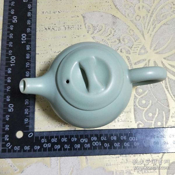 精美茶壶【浅蓝色、开片三足汝窑瓷茶壶】过滤汝窑陶瓷壶   功夫茶  茶具   瓷茶壶    紫砂壶单壶手把壶。