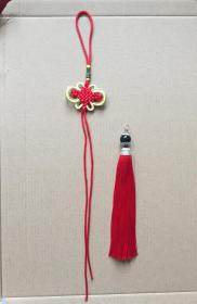 五帝钱挂绳 富贵结挂绳和龙虾扣流苏穗子 中国结挂绳配件,可以穿字钱等物品,做饰品、挂件、车饰