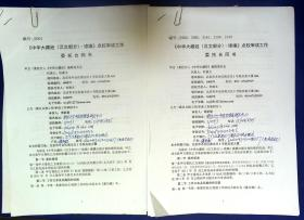 21011558 佛教史专家杜继文 南京大学中国思想家研究中心傅新毅合同书2份 中华大藏经