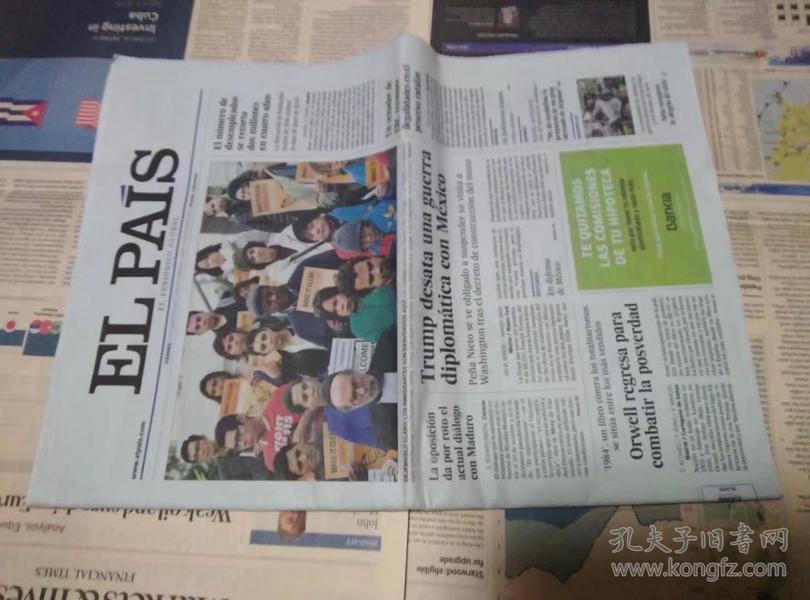 EL PAIS 西班牙国家报 2017/01/27 外文报纸学习参考资料 EL PAÍS: el periódico global en español