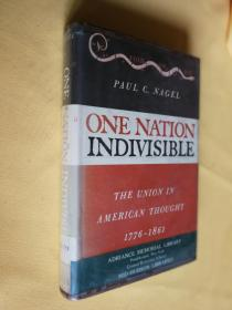 1964年初版 馆藏书 One Nation Indivisible: The Union in American Thought 1776-1861 by Paul C. Nagel