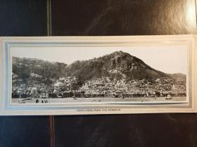 民国香港海港建筑物全幅老照片一张