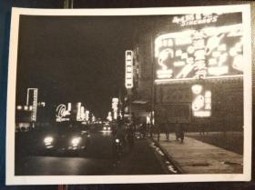 民国香港湾仔区霓虹灯广告牌老照片一张