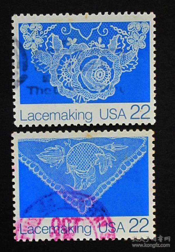 美国邮票----编织花边(信销票)