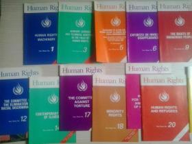 Human Rights(人权)英文原版1、3、5、6、9、10、11、12、14、17、18、19、20、21、22【15册合售】