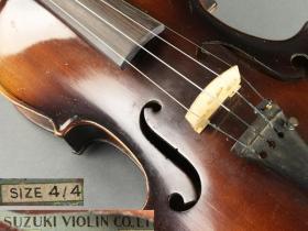 【顶级专业收藏 日本原产铃木古琴】弦楽器 名家制造 铃木小提琴***赠铃木小提琴教材1-8全套及光盘包真绝非国内广东铃木