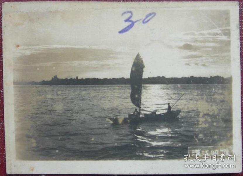 【民国老照片】民国——武汉风景——汉江晓渡《桐阴》