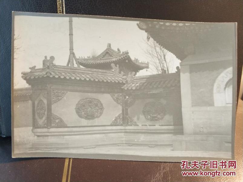 民国北京寺庙园林建筑照片一张