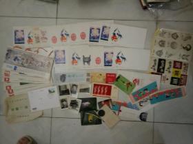 1984年 信封 首日封 明信片 卡片 贴画  画片 年历卡 若干