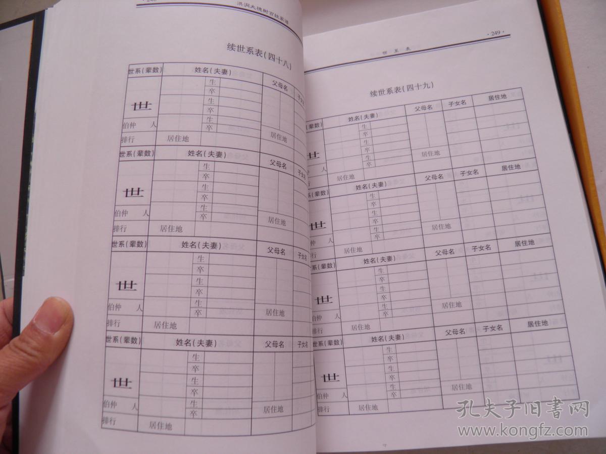 山西洪洞大槐树 百姓家谱-----段氏(空白未填写,详见图)图片