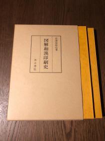 长泽规矩也:图解和汉印刷史(图录+解说)一函二册全