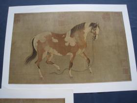 元任仁发二马图   文物出版社1978年一版一印  故宫博物院藏画