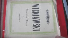 【2313 WIENIAWSKI Souvenir de Moscon Opus 6莫斯科纪念曲作品6