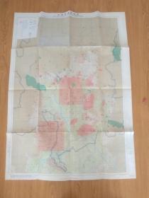 1979年日本《京都市遗迹地图(史迹、名胜、天然纪念物、埋藏文化财包藏地所在地图)》彩印折叠大幅108*77.5厘米