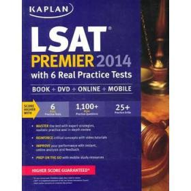 Kaplan LSAT Premier 2014 with 6 Practice Tests: Book + Online + DVD + Mobile