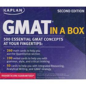 Kaplan GMAT in a Box (Test Preparation Gmat)  Cards