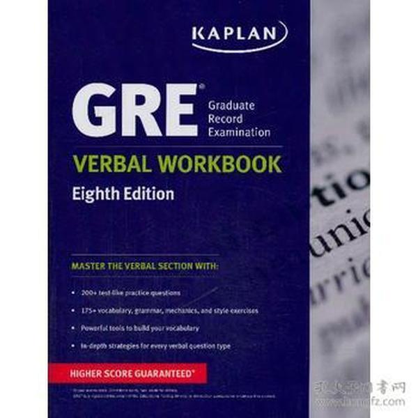 GRE Verbal Workbook (Kaplan Gre Verbal Workbook)
