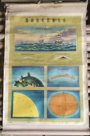 教学挂图一轴.地球挂图:地球的形状和大小(第三幅)【有】