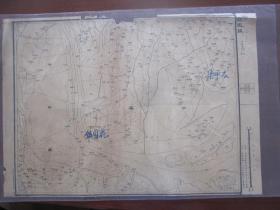 1948年11月中原军司令部  盱眙泗县:花园镇(上部有点残)