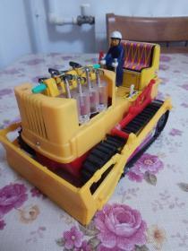 八十年代老电动推土机玩具