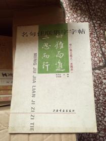 名句佳联集字字帖.怀仁集王羲之《圣教序》1993年1版1印