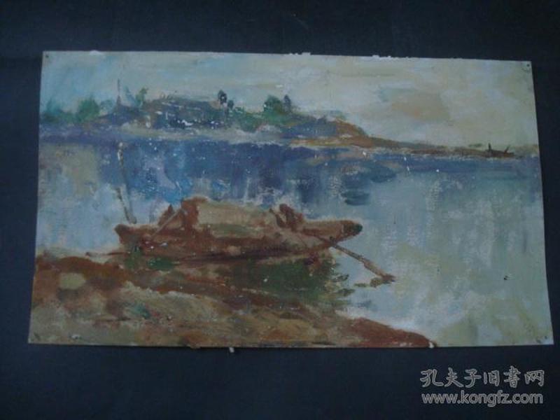 油画4-1.....38*21厘米。创作时间不详....