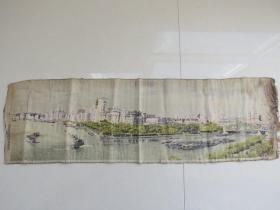 民国上海外滩织锦画