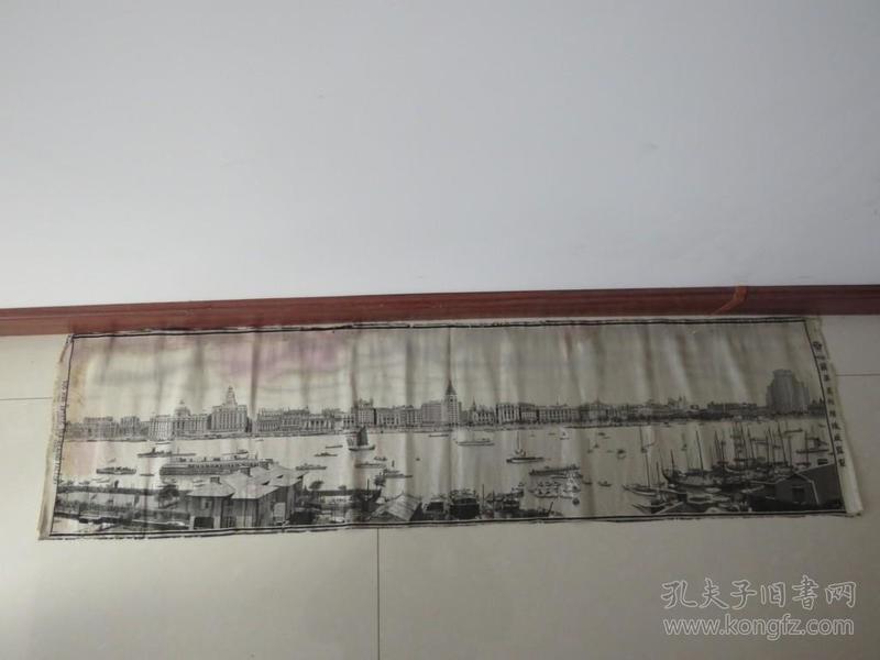 民国上海外滩风景织锦画