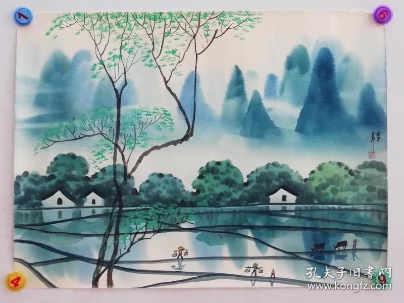 (包真)朱真松水彩画~春夏秋冬系列64*49厘米图片