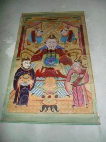 民国木板彩绘  财神像