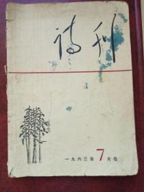 诗刊    1963年7月