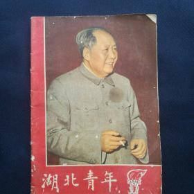 《湖北青年》  1966年第7期  封面毛像,我国政府谴责美帝轰炸河内声明,高校招生改革[柜9-2-1]