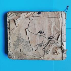 古今名人画稿初.二.三集6册合订为一册线装【上海锦章书局印行】