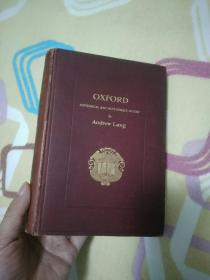 Oxford; Brief Historical and Descriptive Notes Andrew Lang 牛津纪 安德鲁 朗格 签名本