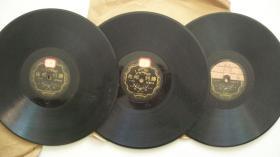 年代不详-42170-25CM黑胶密纹-金少山等唱平剧《打龙袍》胜利唱片3张