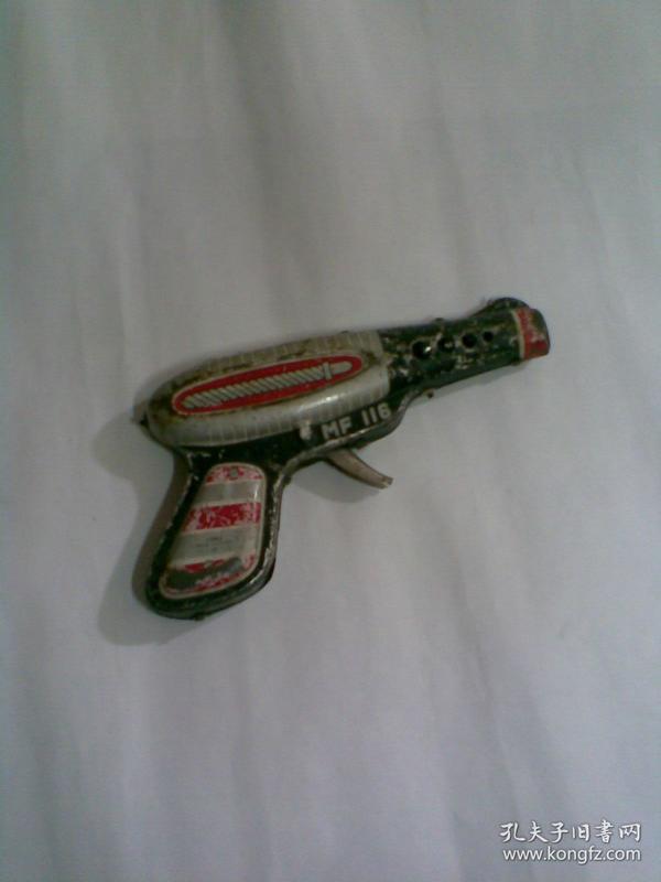 火石铁皮玩具手枪