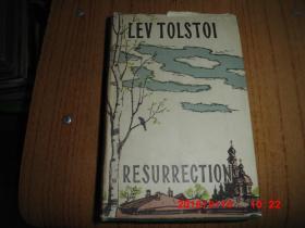 resurrection(复活)原版英文书籍 插图本 精装刷蓝顶