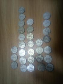 1角硬幣30枚(1999-2003)合售